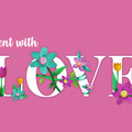 Love - A6 Greeting Card - Pink Background