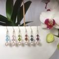 Swarovski Pearl Earring & Necklace Set: Lunar & Luminare
