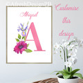 Pink Floral Monograms Customise DIY Printable