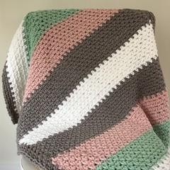 Crochet Baby Blanket | Neapolitan Baby!