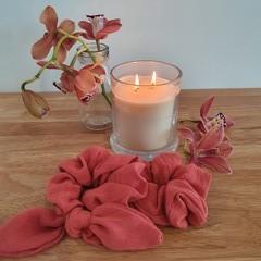 Handmade Scrunchies - Coral