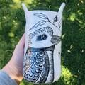 Kookaburra utensil/ large vase