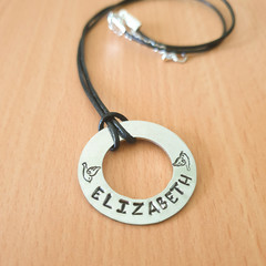 Personalised Handstamped Name Necklace, Custom made Necklace