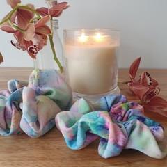 Handmade Scrunchies - Pastel Rainbow