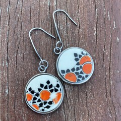 Small Crown Ducal Orange Tree Earrings