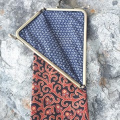 RED AND BLACK  PRINT FABRIC  GLASSES/PHONE CASE