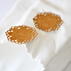 Kraft Doily Seals {20} | Kraft Envelope Seals | Baby Shower Announcement