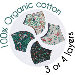 Organic quilter's cotton mask