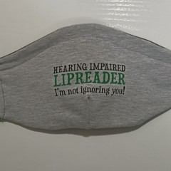 Reusable Cloth face covering for Hearing impaired Lipreader