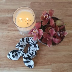 Handmade Scrunchies - Zebra