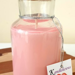 Milk Bottle Soy Candle  Pink