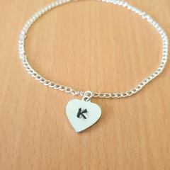 Personalised Initial Bracelet, Personalised Bracelet, Silver Bracelet