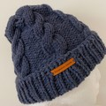 Knitted Cable Beanie Pattern, knitted hat pattern,  cable beanie hat pattern