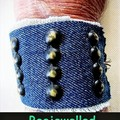 Denim And Studs Cuff,