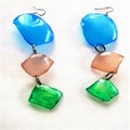 Up Cycled Plastic Drink Bottle Earrings.