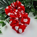 Red Spot Scrunchie - Red White