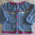 Blue cotton cardigan to suit a girl 2-3 years
