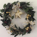Christmas Wreath hand decorated