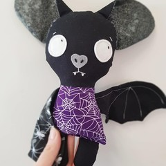 Halloween bat softie toy