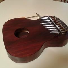 9 key Handmade Kalimba with Tuning Hammer, Tuned to Cmajor, Hand Finished
