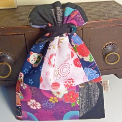 Japanese Traditional Kinchaku Handy Pouch