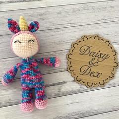 Crochet unicorn Doll, Hand Knitted Softie