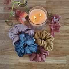 Handmade Scrunchies, Deluxe Range, Multiple Colours.