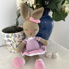 Crochet Bunny Rabbit Doll, Hand Knitted Softie