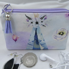 Coin Purse - Women's/Girls for Coins, Cards,Jewellery, Airpods - Boho Teepee