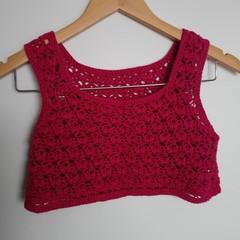 Reversible crochet crop top