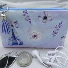 Coin Purse - Women's/Girls for Coins, Cards,Jewellery, Airpods - Teepee Design