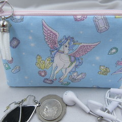 Coin Purse - Women's/Girls for Coins, Cards,Jewellery, Airpods - Unicorn Design