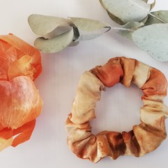 Silk Scrunchie - Plant-Dyed - Earthy Tones - Upcycled Fashion