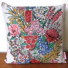 Vintage Australian Wildflowers Cushion