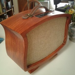 Hand Built, Stereo FM Radio Bluetooth Speaker. ### USB Re-Chargeable ###