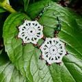 Crochet Earrings with Beads
