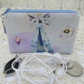 Coin Purse - Women's/Girls for Coins, Cards,Jewellery, Airpods - Blue Teepee