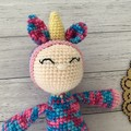 Crochet unicorn Doll, Hand Knitted Softie