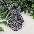 Squiggle Scrunchie - Black and White