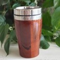 Wooden travel mug, Wooden coffee mug, Australian Jarrah, Coffee cup, Xmas gift