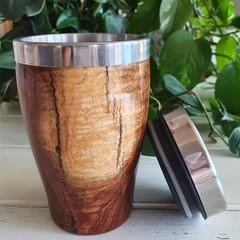 Wooden travel mug, Wooden coffee mug,  Keep cup, Australian Timber