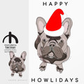 ADD - SANTA HAT & GREETING - to your existing pet -HERMAN illustration