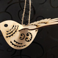 Ornamental wooden bird
