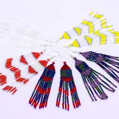 Fashion earrings/Long dangle earrings/Beaded dangle earrings/Boho earrings