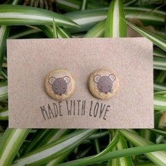 Mouse Fabric Studs 19mm
