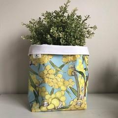 Large fabric planter | Storage basket | WATTLE GUM NUT BABIES