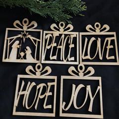 Set of Xmas decorations