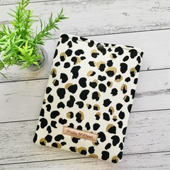 Animal Print E-Reader Sleeve, Padded Kindle cover with press stud closure.