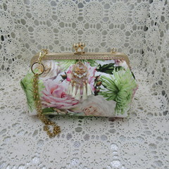 Ladies Clutch - Evening, Day, Wedding, Race Day, Garden Party - Blush Rose