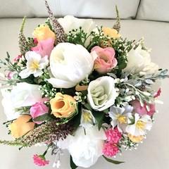 Wedding Faux floral Centrepiece in ceramic pot